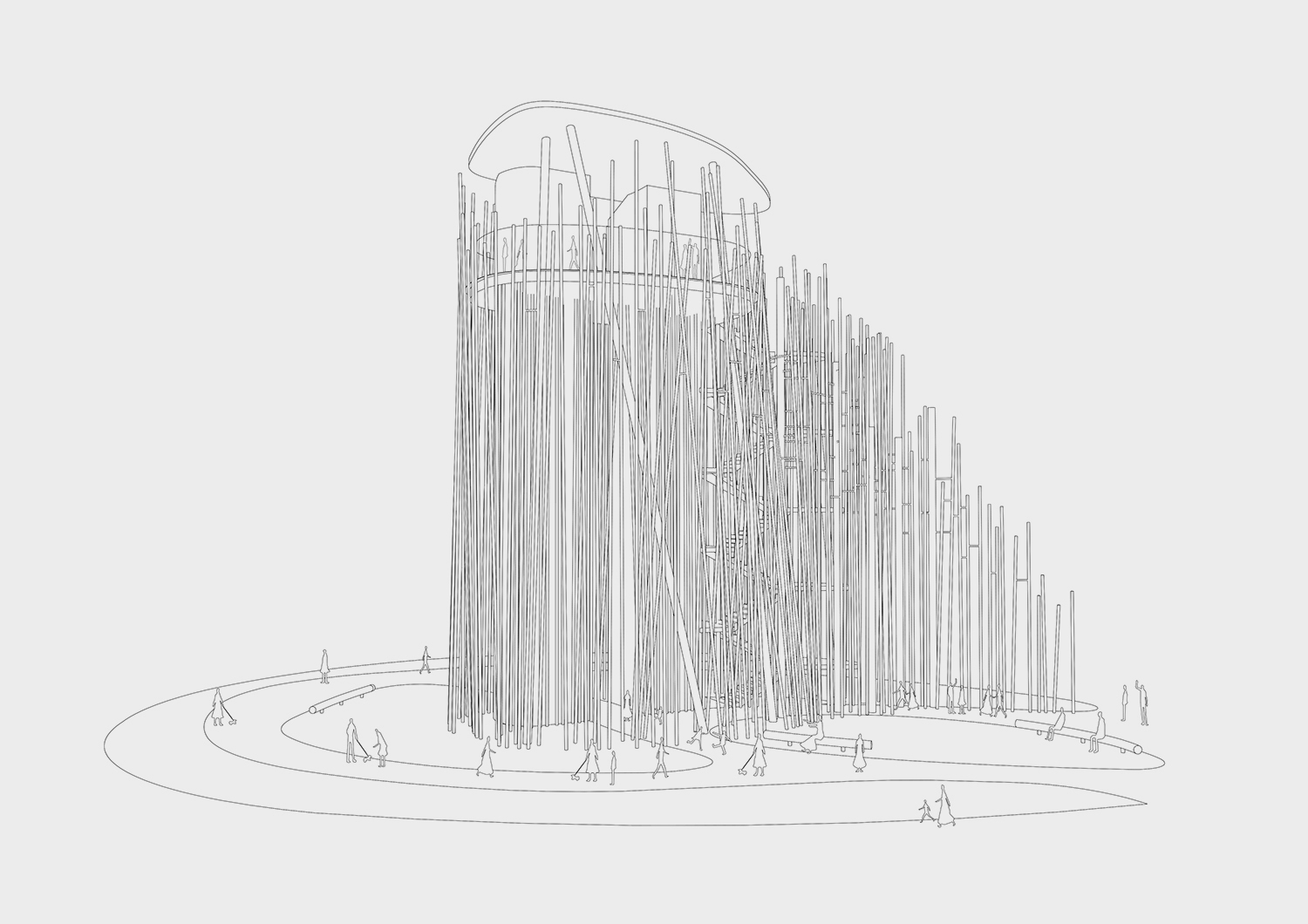 Growing Forest, NAMELESS Architecture has won a competition for a public observatory in Seoul